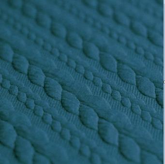 Jersey torsade bleu canard