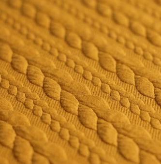 Jersey torsade moutarde