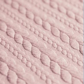 Jersey torsade nude rose