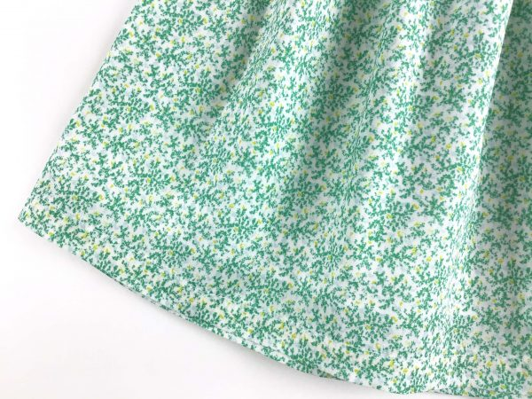 Jupe liberty verte ourlet